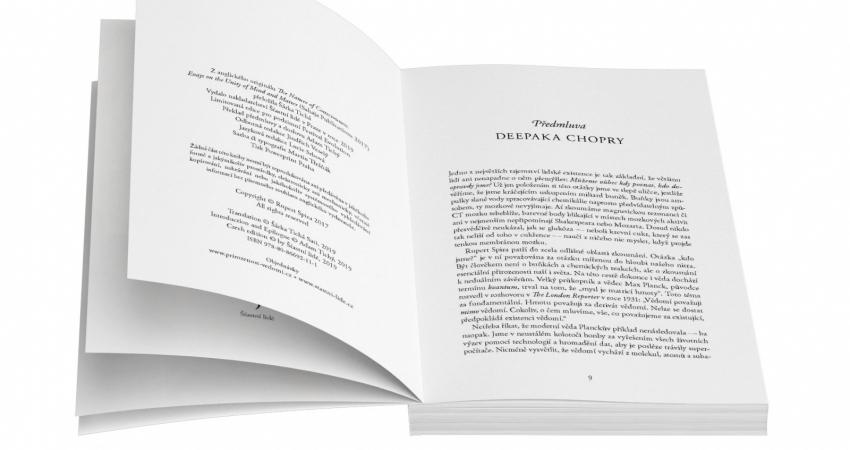 Dokončujeme práce na knize Ruperta Spiry Přirozenost vědomí